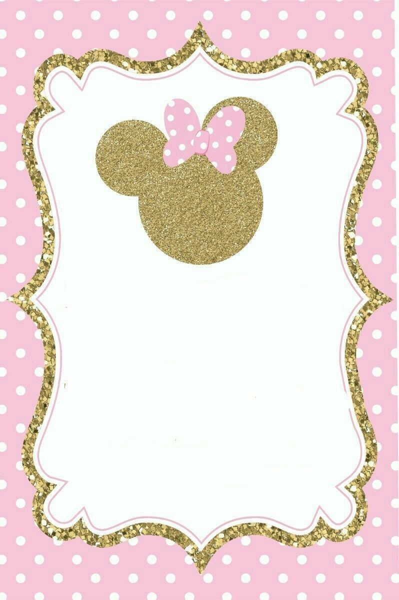 Twetww Invitaciones Minnie Invitación De Minnie Mouse Y