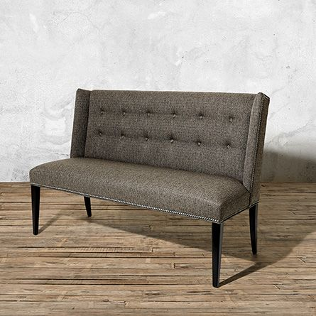 Add Variety U0026 Comfort To Your Dining Room With The Arhaus Pike Upholstered  Settee In Team Mineral With Plushly Cushioned Frames U0026 Tufting Details.