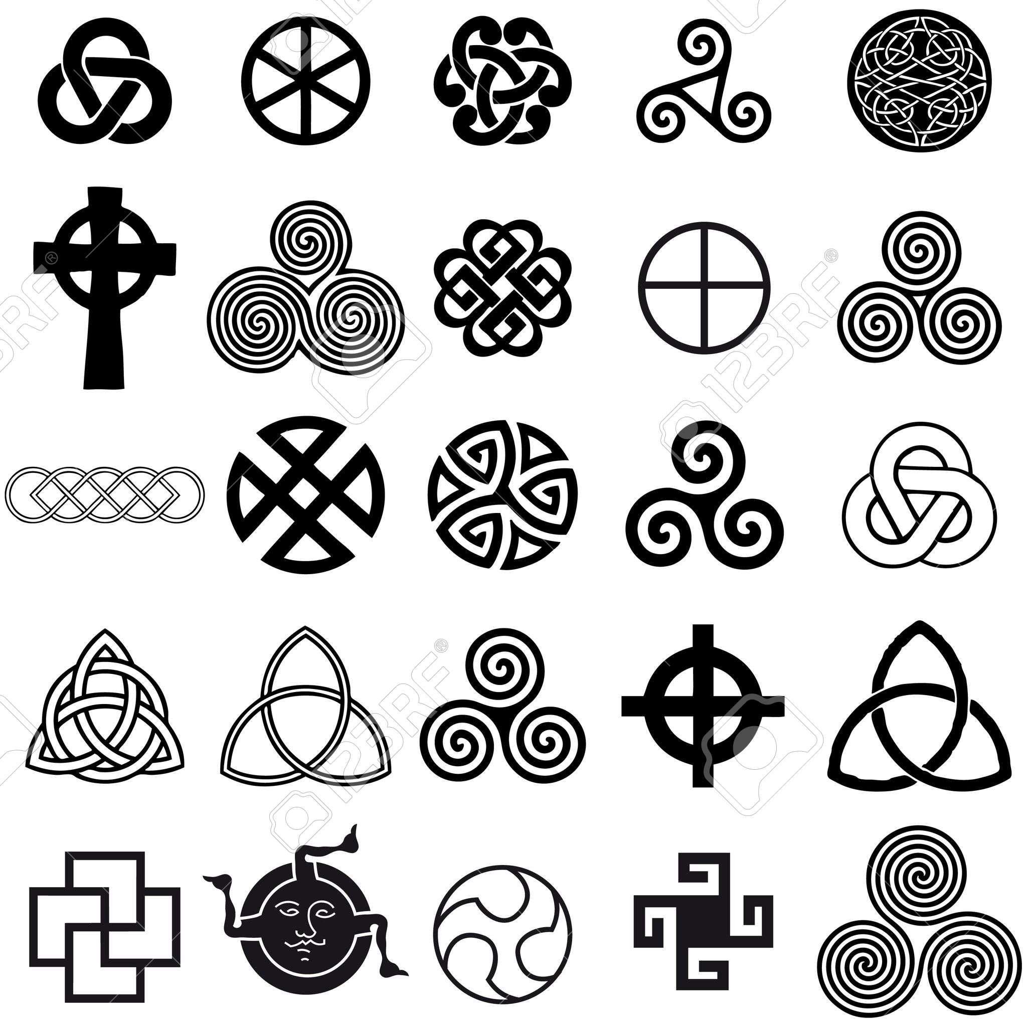 Jeu de symboles celtique icônes vectorielles. Jeu de ...