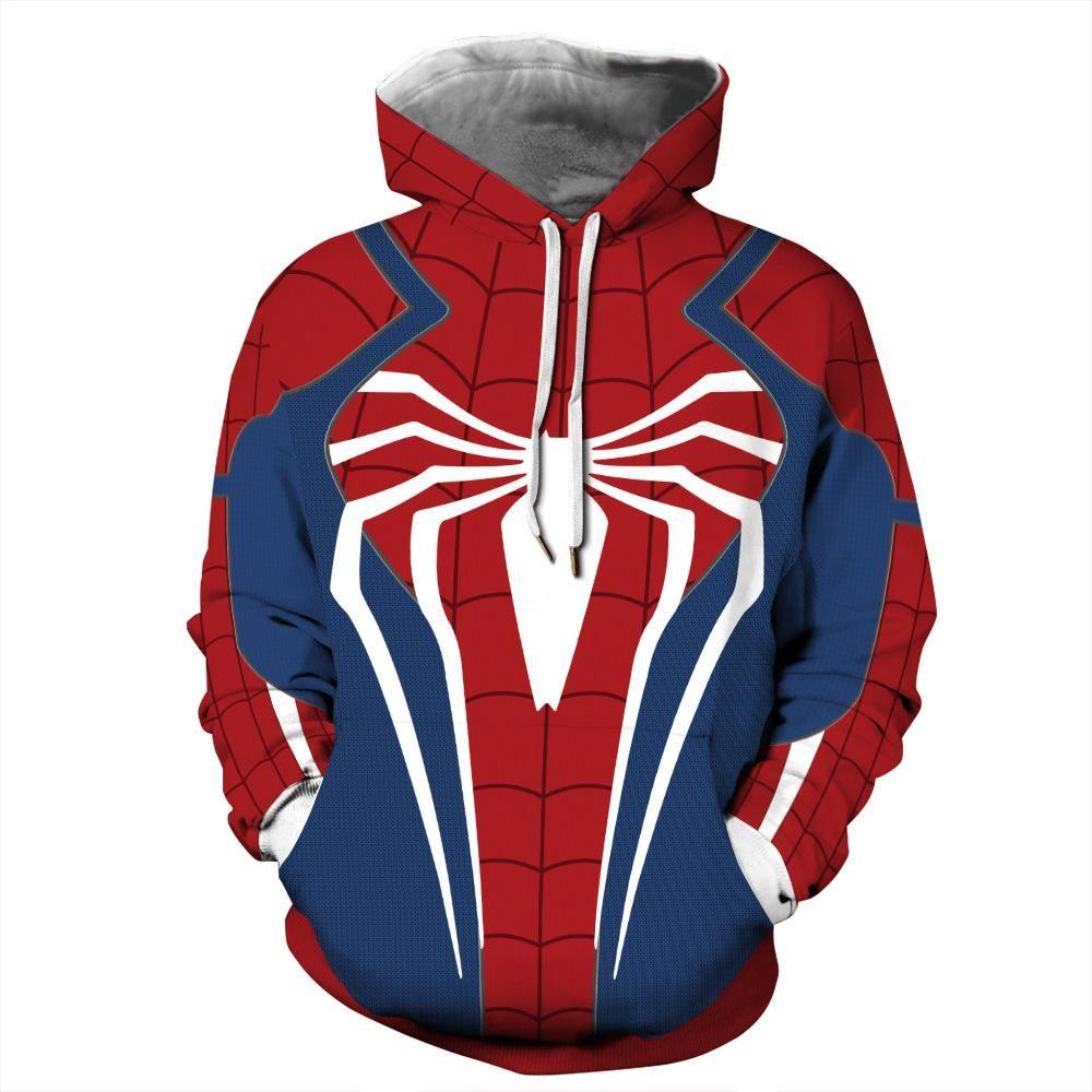 Pin By Pinkalwaysfashion On Men Hoodies Spiderman Hoodie Long Sleeve Sweatshirts Casual Hoodie [ 1000 x 1000 Pixel ]