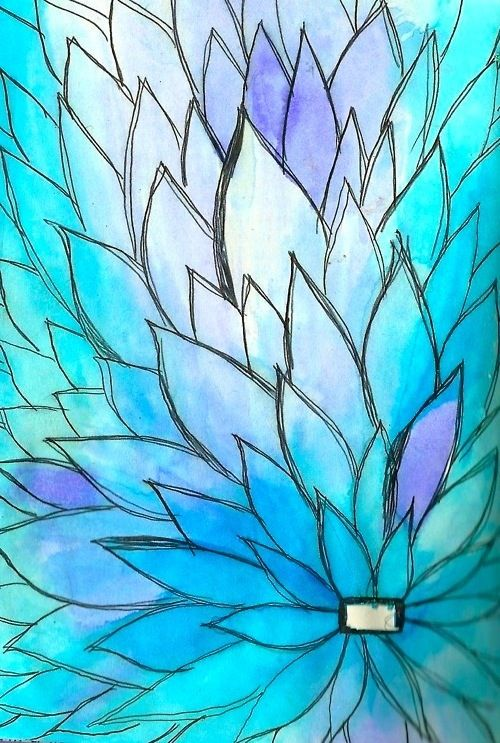 Pin by teresa salinas on watercolour Pinterest Watercolor - blue flower backgrounds