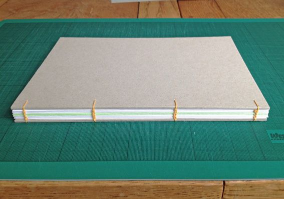 Check out this tutorial to find out how to make your own sketchbook using Coptic Stitch binding.