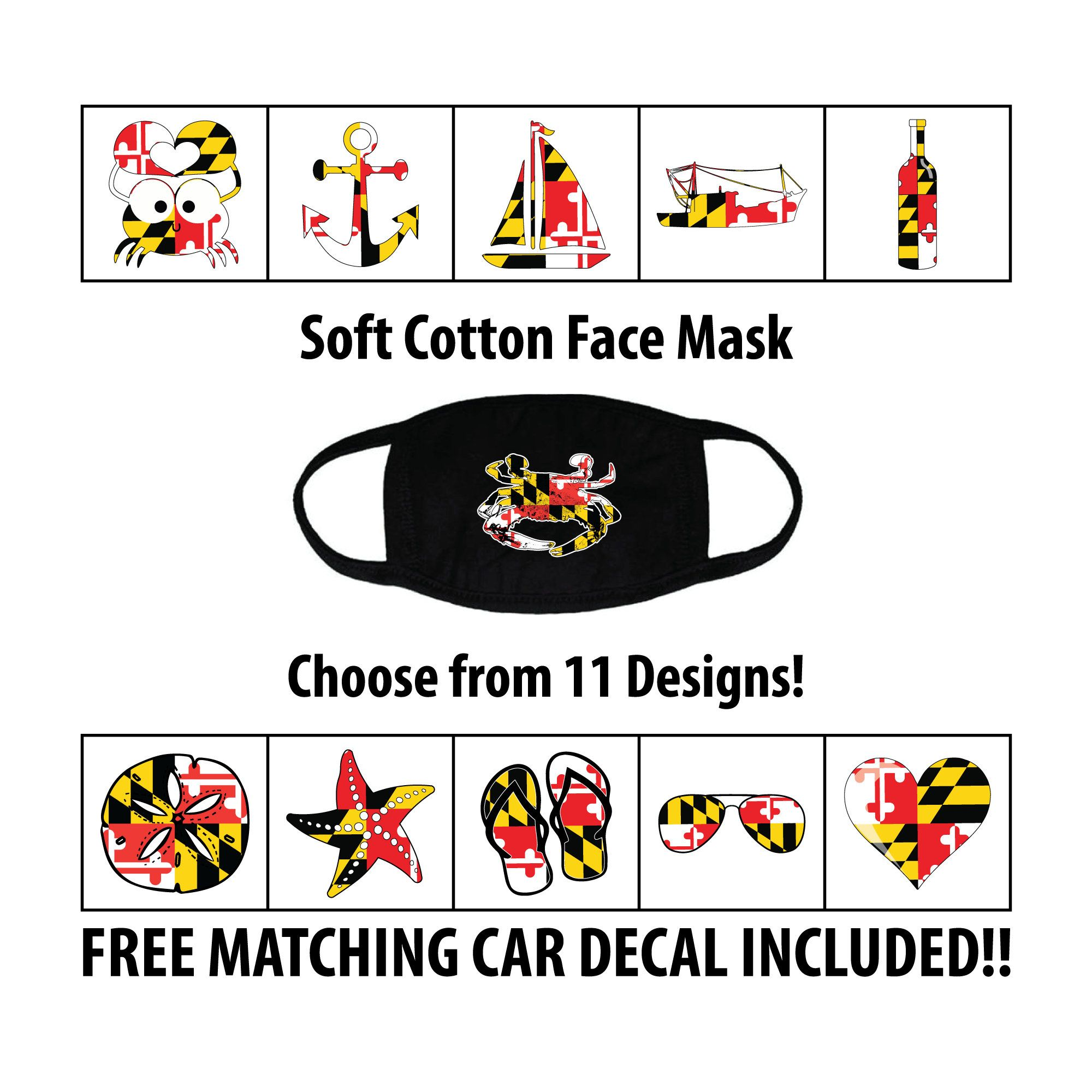 Pin On Maryland Flag Masks