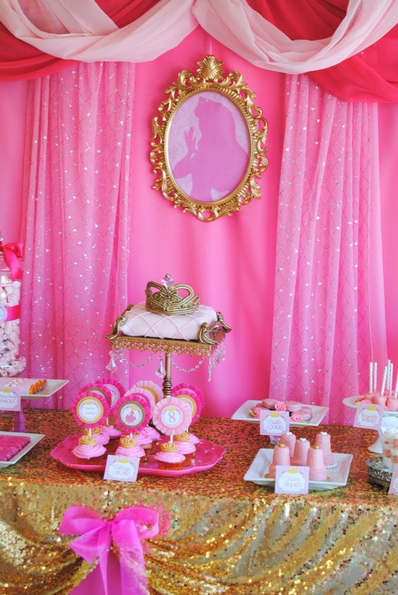 Princess Aurora Party Birthday Girl Wall Decorations