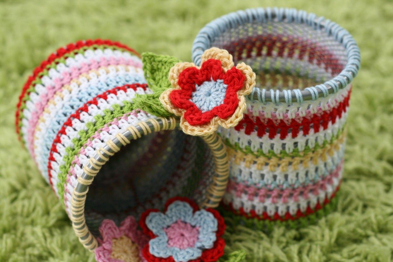 Little Spotty Toadstool: cute crochet jar covers