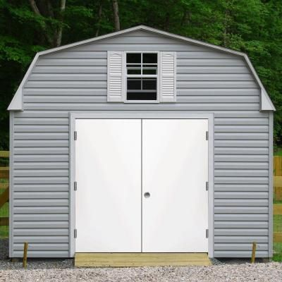 Steves Amp Sons Garden Shed White Left Hand Outswing Primed