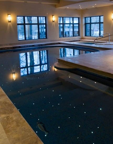 Indoor residential pool with fiber-optic lighting | Interior ... on pool electrical ideas, pool stairs ideas, pool shelter ideas, pool maintenance ideas, pool remodeling ideas, pool house ideas, pool art ideas, pool building ideas, pool fire ideas, pool walls ideas, pool tables ideas, pool outdoor ideas, pool tile ideas, pool color ideas, pool safety ideas, swimming pool decorating ideas, pool tiling ideas, pool lights, pool area decorating ideas, pool shading ideas,