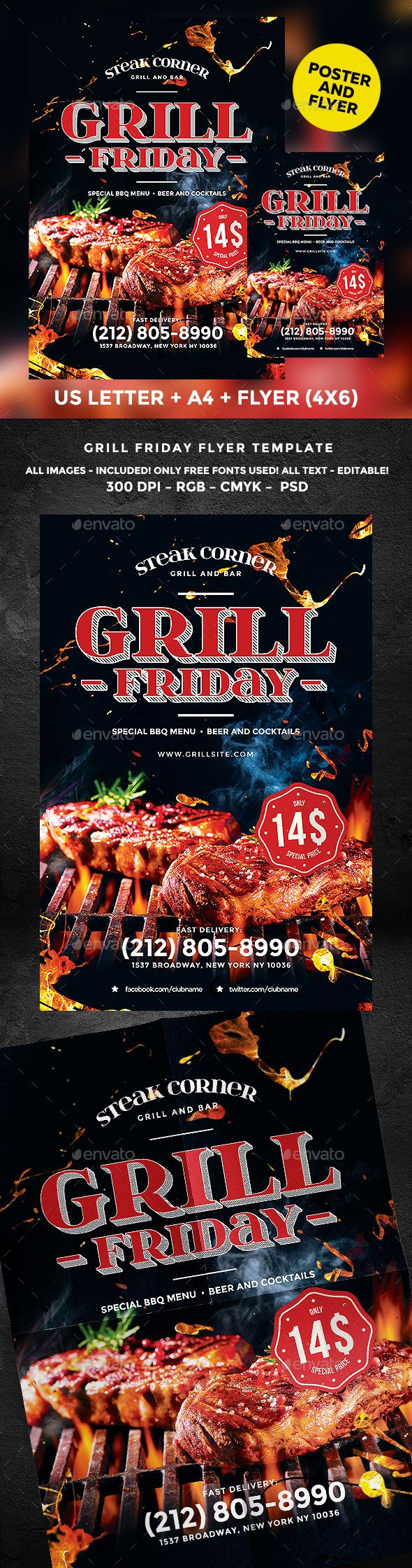 Grill Flyer  Psd Templates Template And Flyer Template