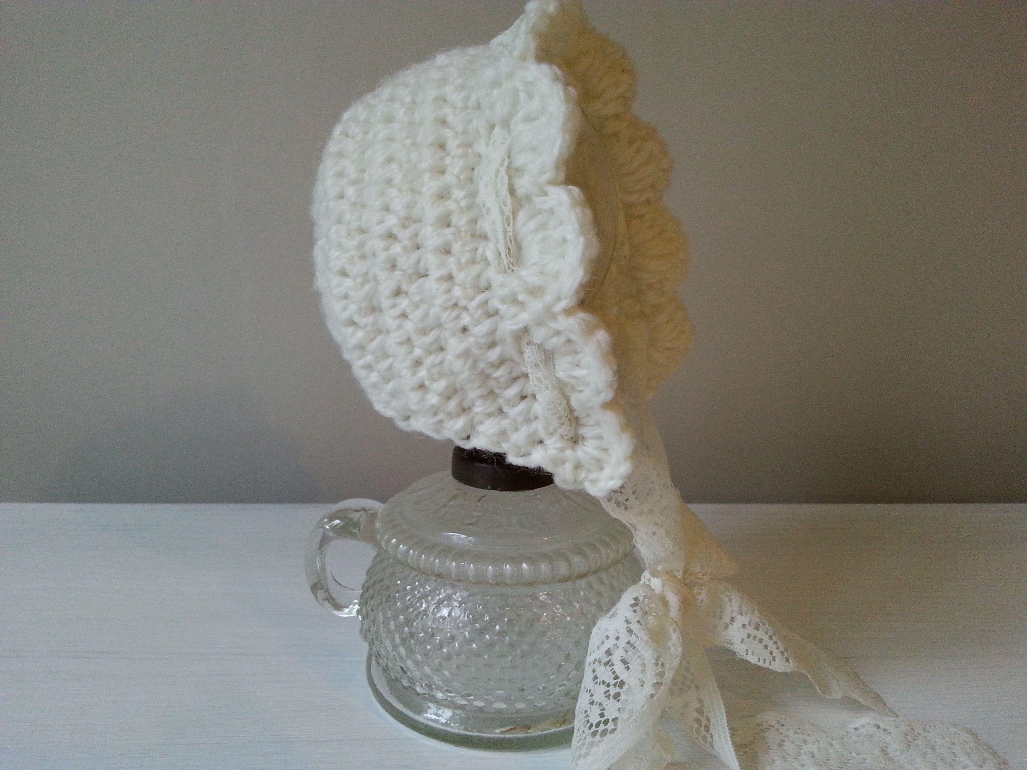 527820d76b4d4 bonetka na szydełku, baby crochet bonnet, video tutorial | CROCHET ...
