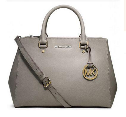 519c9c19d36 Michael Kors Leather Large Satchel Pearl Grey - Michael Kors Bags ...