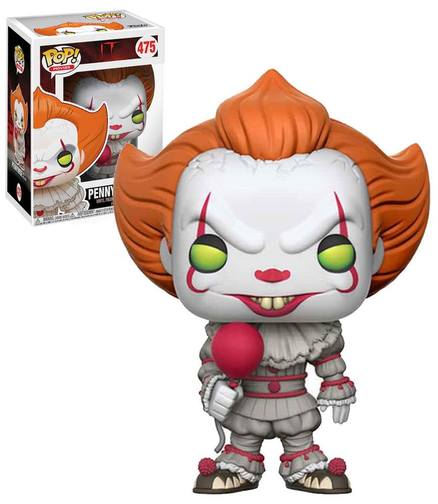 FUNKO POP VINYL IT 2017 PENNYWISE WITH BALLOON EXCLUSIVE FREE POP PROTECTOR