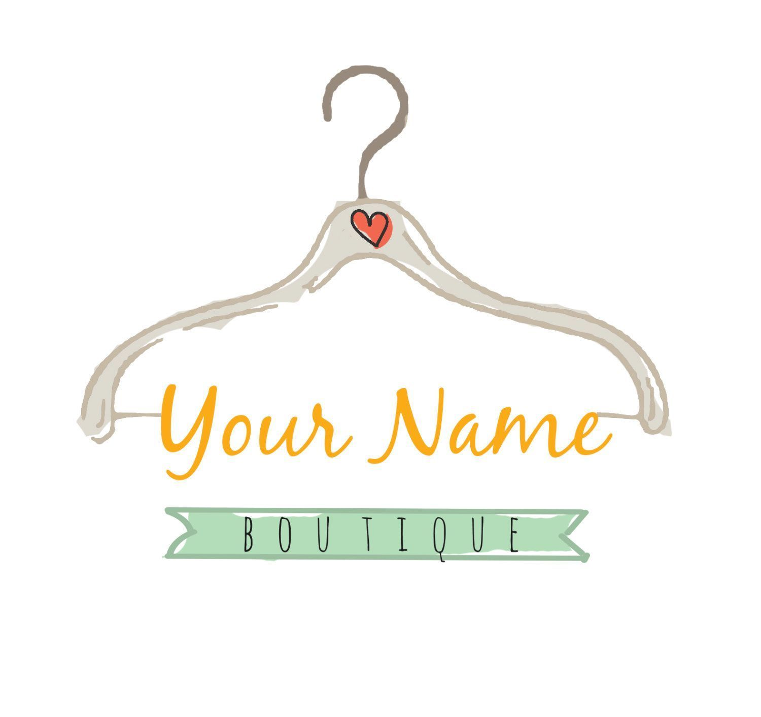 Clotheslogo Embroidery Clothing Boutique Clothes Premade Fashion Hanger Design Drawn Name Lo Clothing Logo Fashion Design Logo Clothing Sewing Logo
