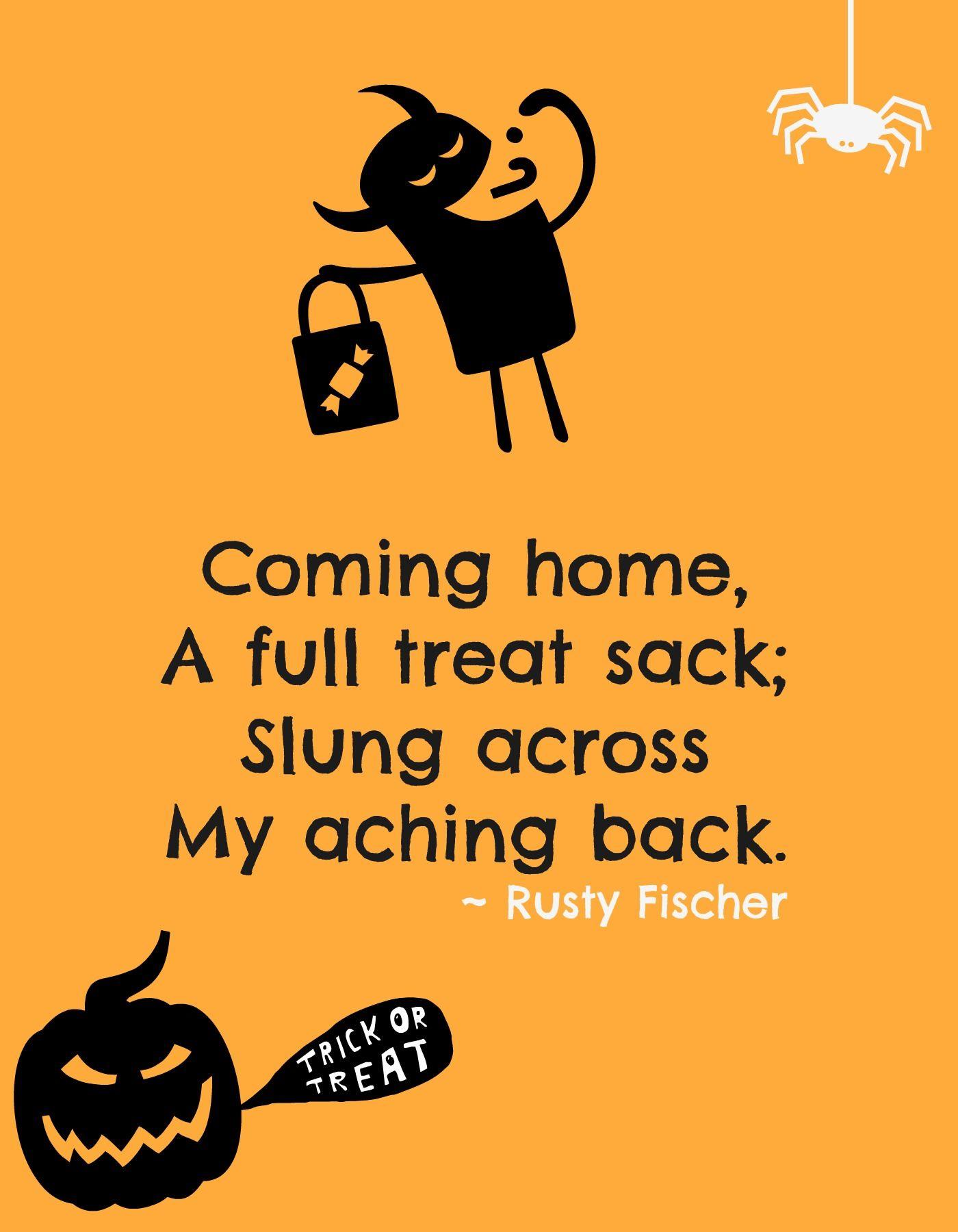 Tricks and treats... A Halloween Poem Halloween poems