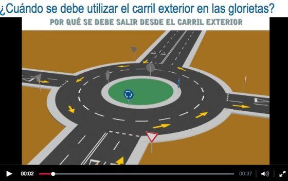 Guardia Civil recuerda que el 60% de conductores usa el intermitente mal en una glorieta.