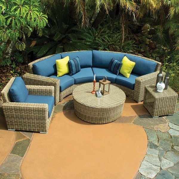 Aspen Curved Sofa Sets With Images Outdoor Wicker Patio Furniture Outdoor Furniture Sets Conversation Set Patio