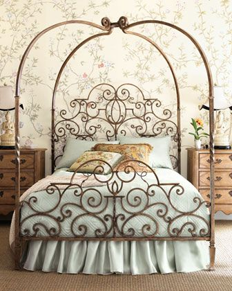 Vintage Princess Bed Home Bedroom Wrought Iron Beds Wrought