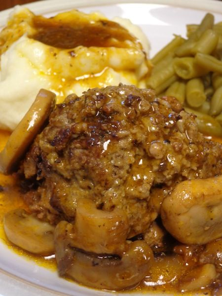 There's no need to look for easy diner recipes when you have this Salisbury Steak recipe. It's super simple and perfect for the man in your life that loves a meat and three kinda meal!