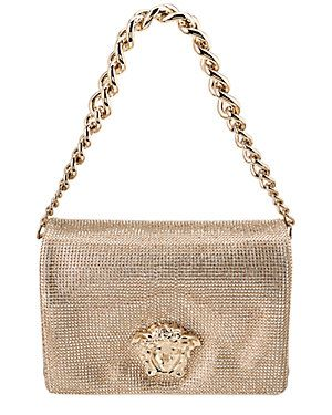 58815f93a14f Versace Sultan Swarovski Crystal Mesh   Leather Medusa Shoulder Bag ...