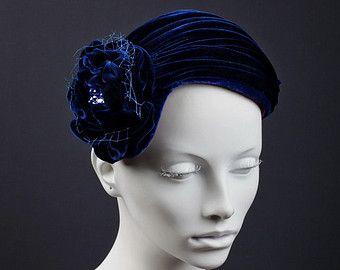 Sombrero Cóctel de alta costura Fascinator tocado de por ArturoRios ... 1c2195bab0e