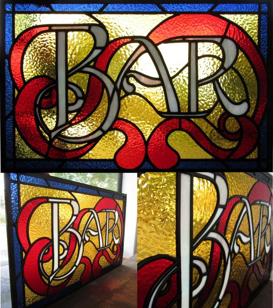 Leadlight Stained Gl Bar Sign Window Made By Phoebe Knight For Design Repair Www Leadlightdesign