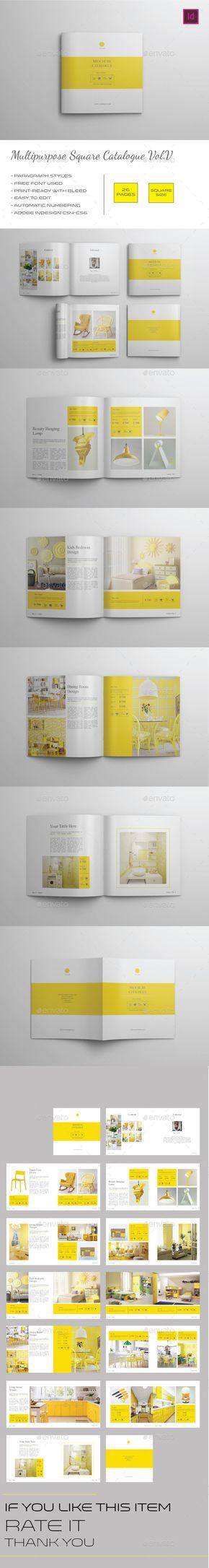 Multipurpose Square Catalogue Vol.V | Catalog and Template
