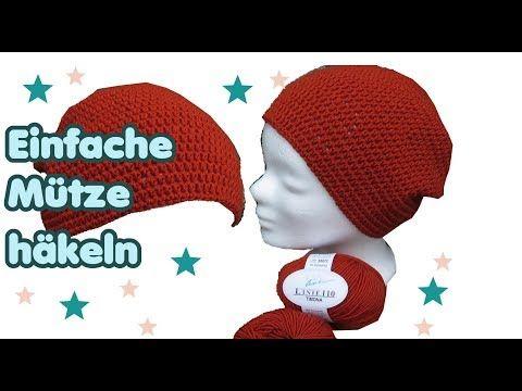 Einfache Mütze Häkeln Für Anfänger Mit Dünner Wolle Youtube