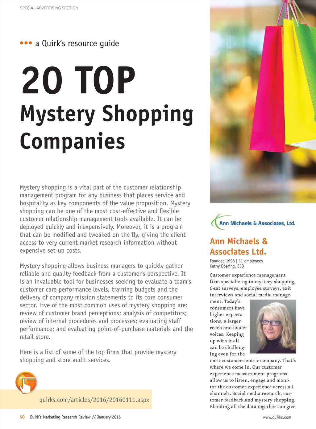 The January Issue Of Quirk S Includes A Look At What Marketing