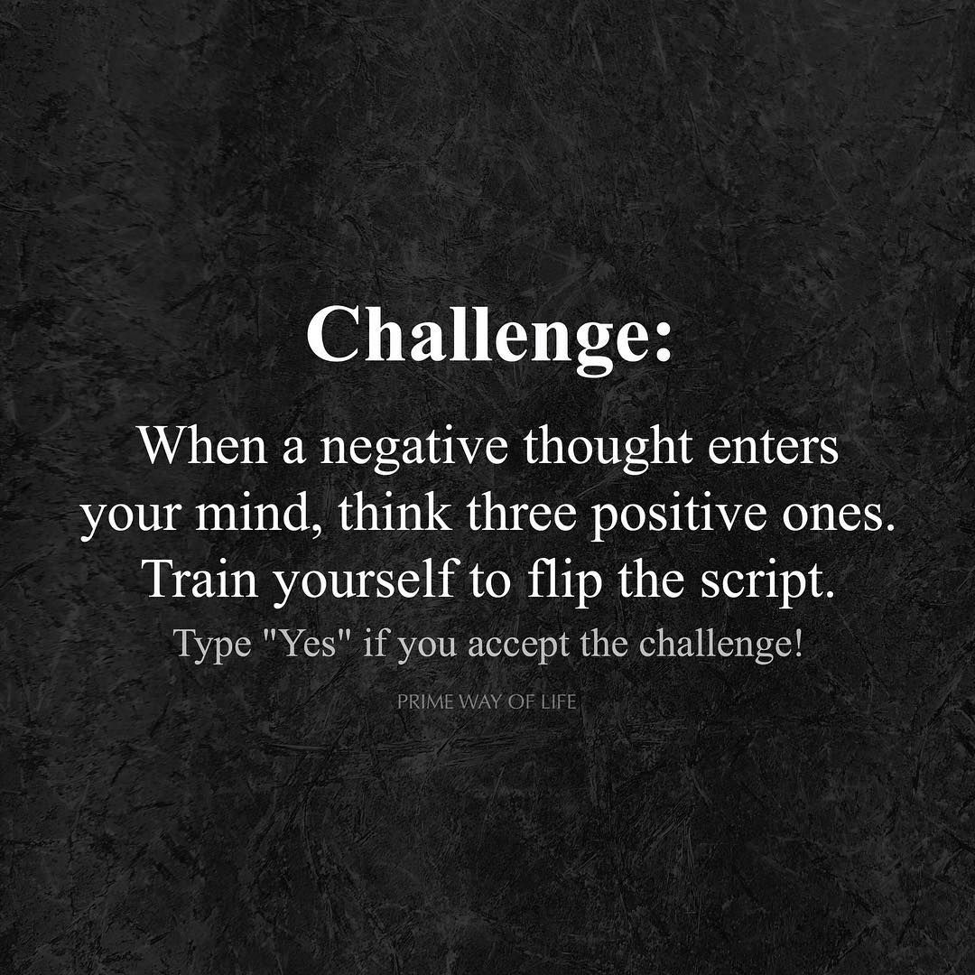 Type Yes If You Accept The Challenge Primewayoflife
