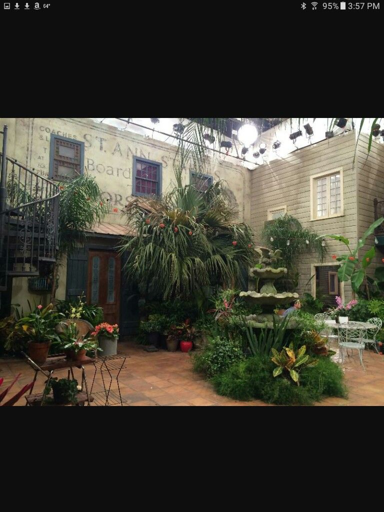 Set Of Ncis New Orleans Courtyard Courtyard Garden Courtyard