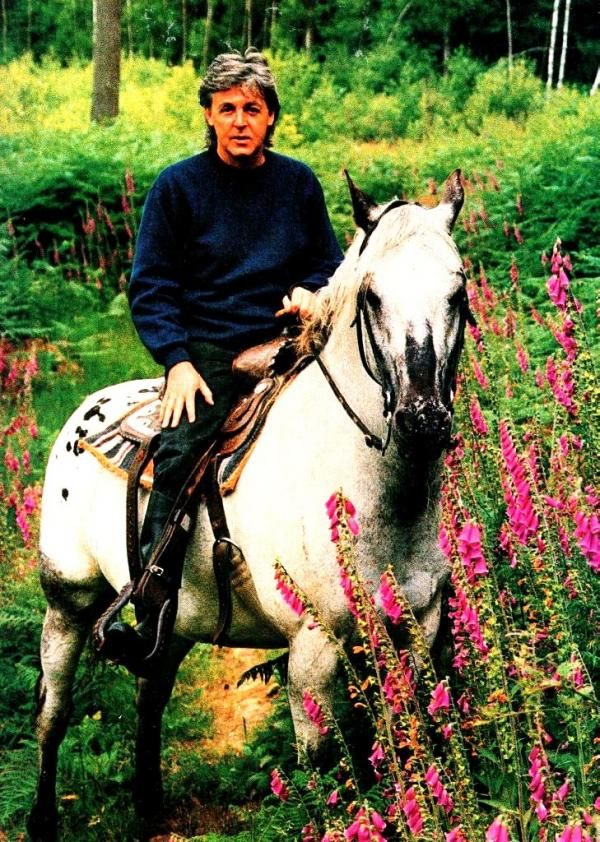 Paul McCartney (loved horseback riding!)