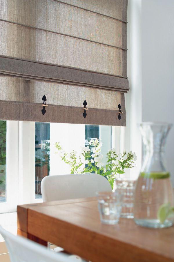 Vouwgordijn met decoratie | gordijnen | Pinterest - Decoratie, Met ...