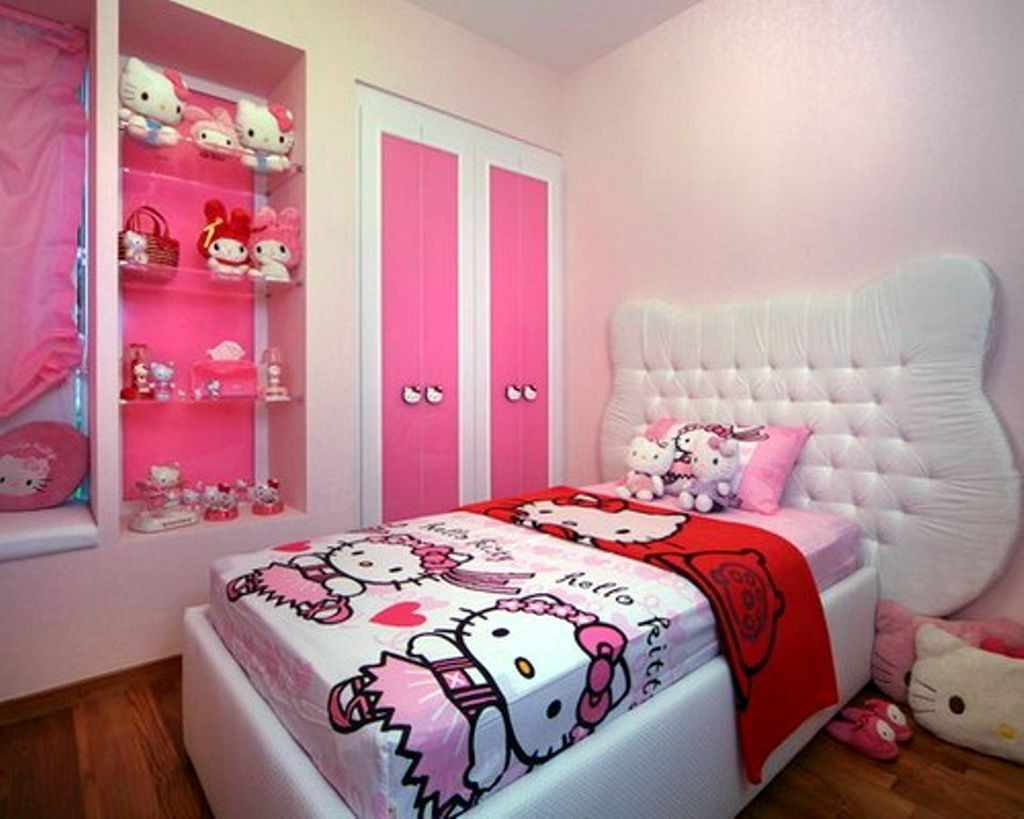 Perfect Decor For Girls Especially Hello Kitty Fan Hello Kitty Fascinating Hello Kitty Bedroom Designs Inspiration Design