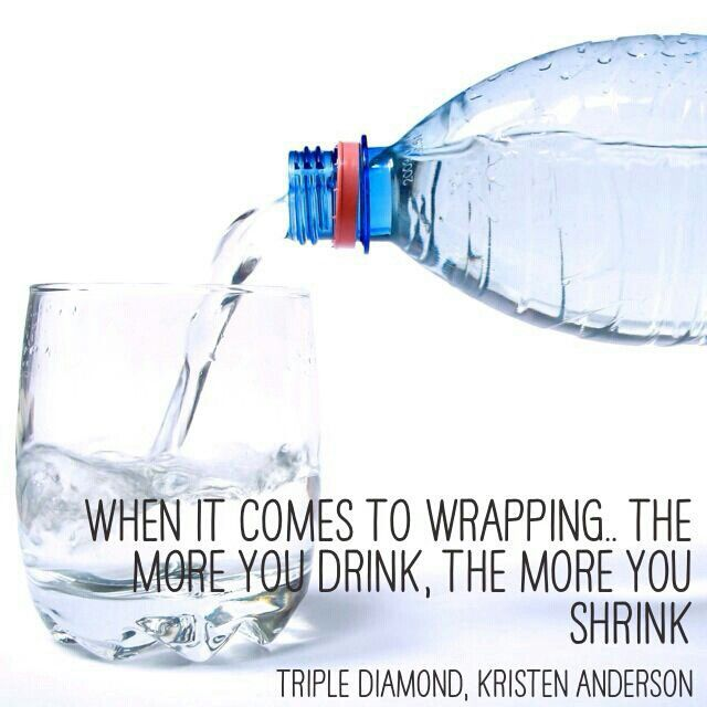 The more you drink the more you shrink