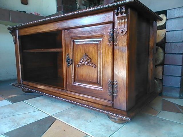 Wooden TV Cabinet Stand Box Coffee Table Vintage Furniture Livingroom (EM1)