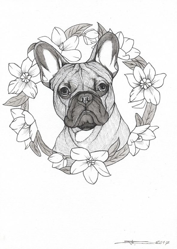 french bulldog tattoo design frenchie tattoo design sketchbook page by jeroen teunen the. Black Bedroom Furniture Sets. Home Design Ideas