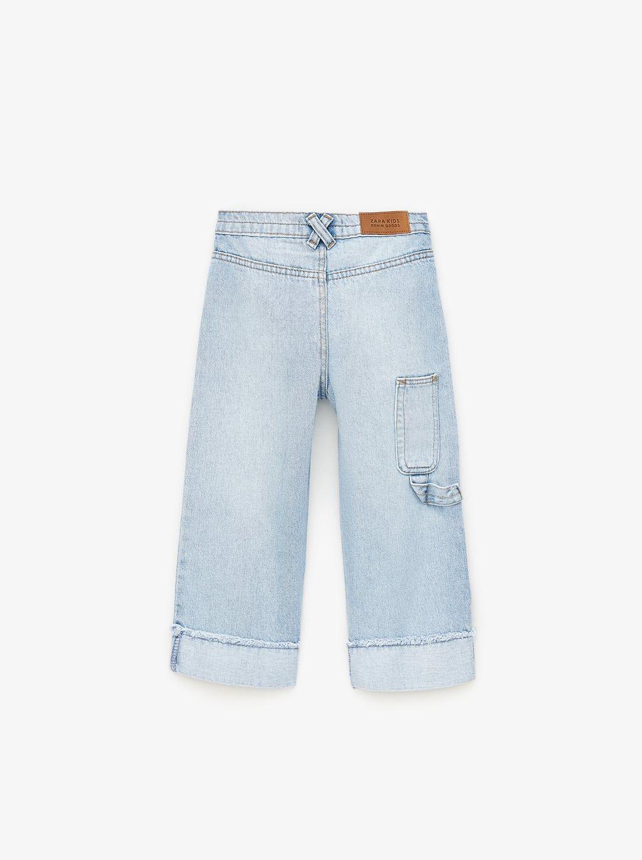 Jupe-culotte en jean à poches