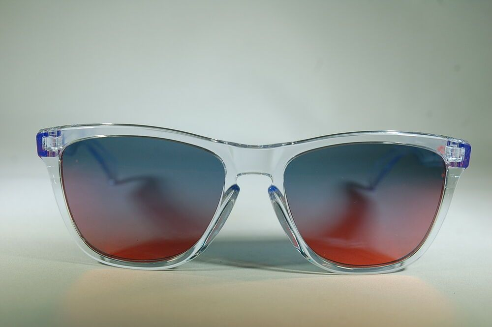 NEW OAKLEY FROGSKINS 009013A6 5517 Polished Clear/Torch