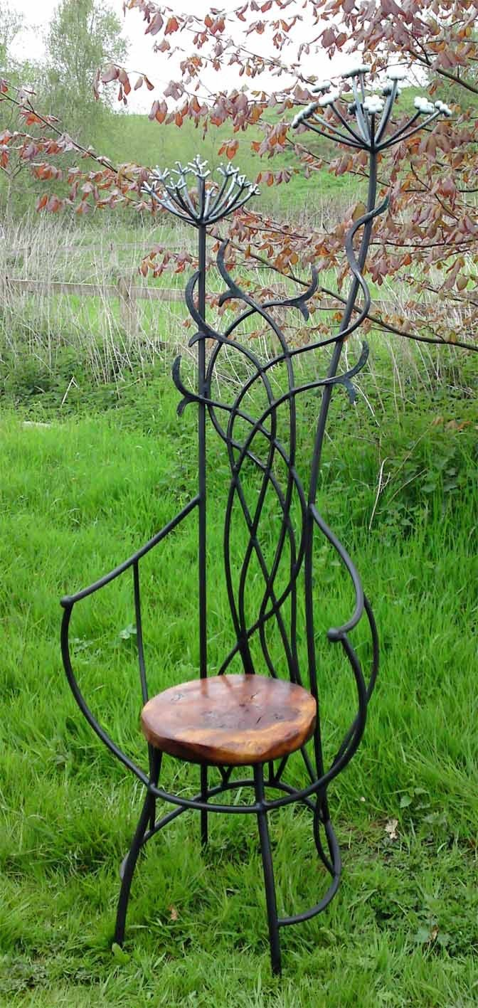 Wrought iron chair by David Freedman | Welding Class ideas ...