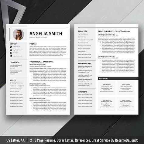 What Is A Cover Letter For A Resume Interesting Professional Resume Template Cover Letter Cv Template Us Letter .