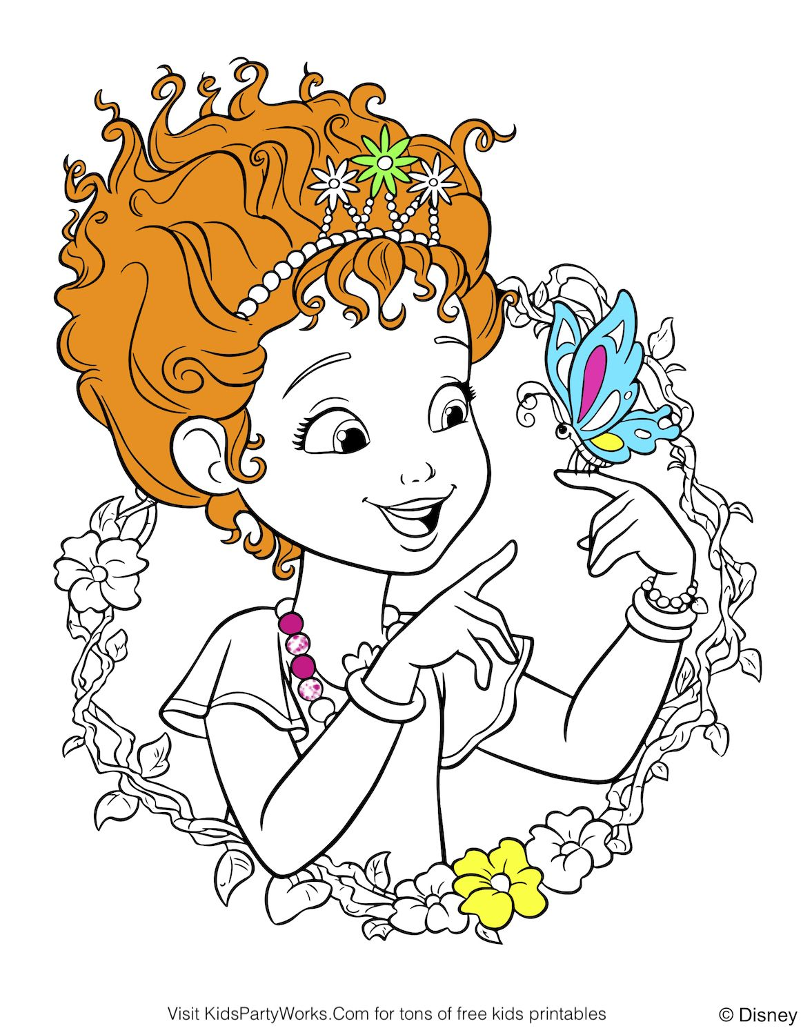 New free Fancy Nancy Coloring Page from Disney Color