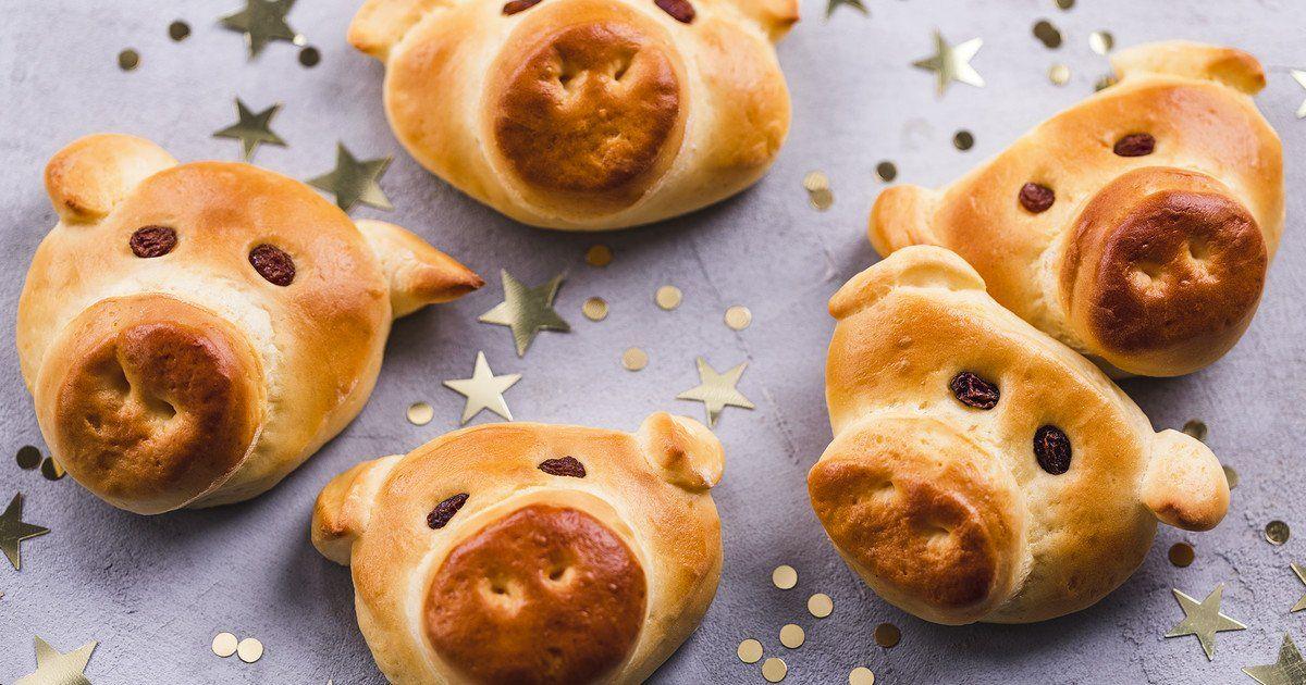 Glücksschweinchen aus Hefeteig - simpel & genial | Die besten Backrezepte mit Gelinggarantie
