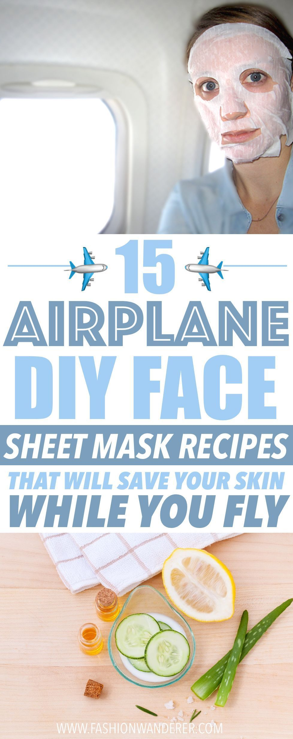 These airplane DIY face sheet mask recipes are AMAZING Ium glad to
