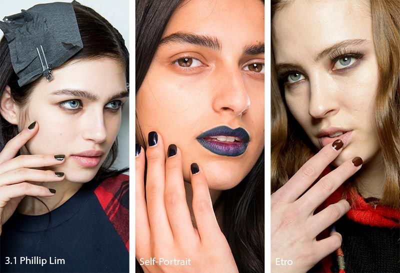 Fall/ Winter 2018-2019 Nail Trends: Dark Nail Polish ...