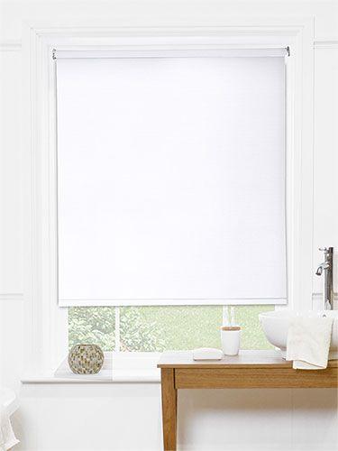 Ocean Alpine White Roller Blind White Roller Blinds Bathroom - Waterproof roller blind for bathroom