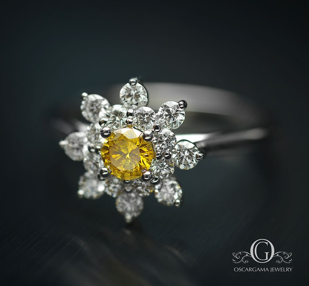 And It Was Yellow Yellow Diamonds Are More Rare And Expensive Than White Diamonds The Fire And Color Of The Gold Flower Ring Natural Color Diamond