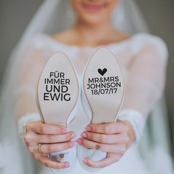 Photo of Accessories – shoe stickers for your wedding! – a design …