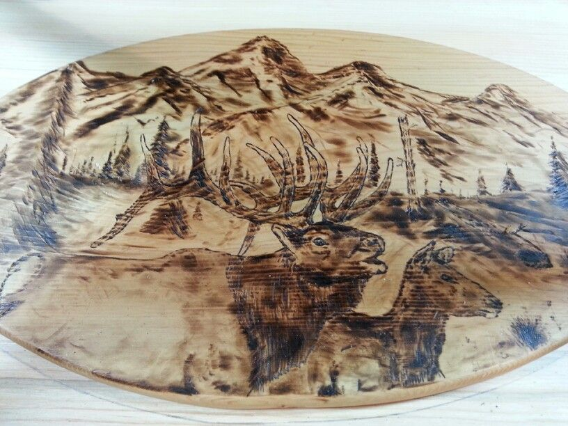 The Eagle and the Mountains - Laser Engraved Wall Decoration / Wall Art