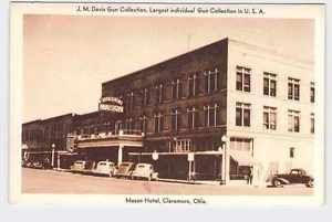 Vintage Postcard Oklahoma Claremore Mason Hotel Exterior J M
