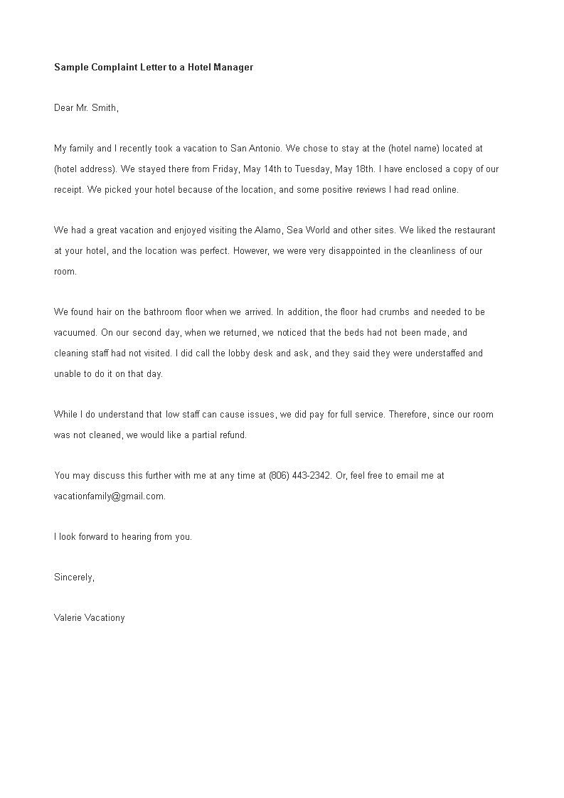 Sample Complaint Letter To Hotel Manager How To Write A Complaint Letter To Hotel Manager Download This Sample Complai Hotel Management Lettering Management