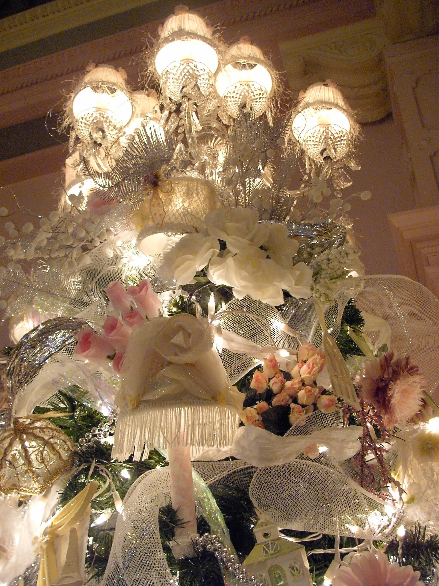 Chandelier shabby chic christmas tree topper christmas collage chandelier shabby chic christmas tree topper arubaitofo Gallery